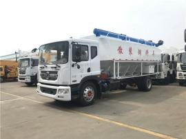 5-10吨饲料罐车 正规的猪场diandong送料车厂商zhi导jia