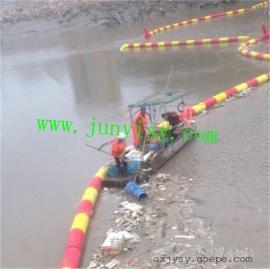 直��200�L1000河道水��r截渣子塑料PE浮筒