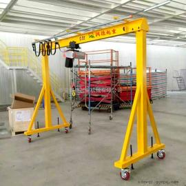 加工定做MH16t高度可调手推龙门吊 无轨龙门吊