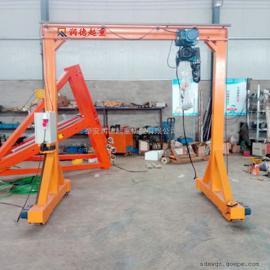 加工定做MH7.5t可转向自走龙门吊 胶轮式龙门架