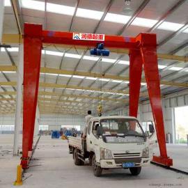 加工定做MH0.5t液压龙门吊 胶轮式龙门架