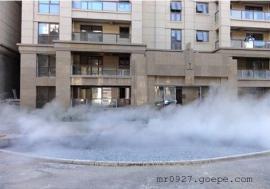 公园喷泉人工造雾