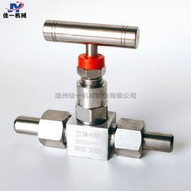 J23W-64P不锈钢外螺纹针型阀(不锈钢T型手柄) 高压针型截止阀