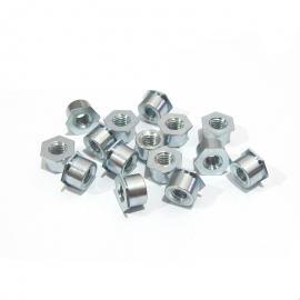 PEM标准冲压铆螺母柱 非标定制 六角铆柱 H8-M5-5压铆螺柱