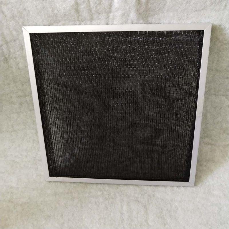 百叶风口用初效尼龙网板式空气过滤器 非标定制黑色空调过滤网