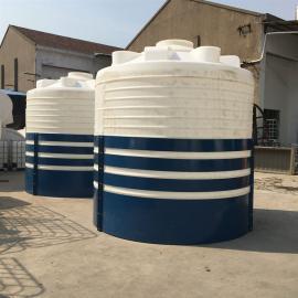 华社10吨耐酸碱化工PE平底水塔市政环保工程供水箱污水处理循环储罐10000L