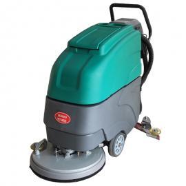 购物广场地下车库物业保洁用移动式电瓶洗地机清洗瓷砖大理石