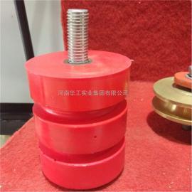 JHQ-A-10单双梁行车聚氨酯缓冲器 带螺栓聚氨酯缓冲器 防撞块