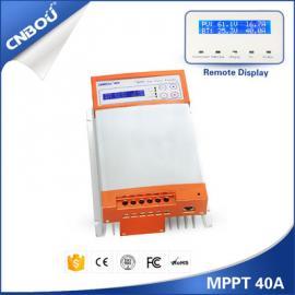 40A/博优MPPT太阳能控制器12V/24V自适应光伏充电升压控制器