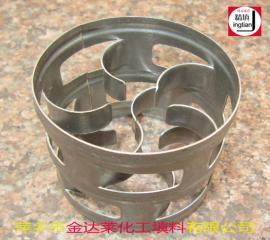 金属改进型鲍尔环 哈埃派克填料 304/316L 带筋鲍尔环 金达莱