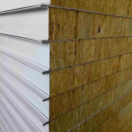 彩钢岩棉夹芯板 防火阻燃泡沫岩棉彩钢板多规格可选