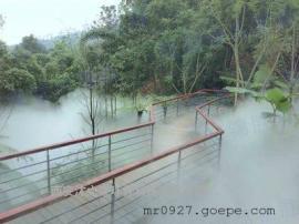 公园假山造雾造景人工造雾