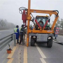打拔钻高速公路打桩机 公路安装护栏打桩机