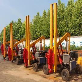 护栏钻孔机 公路安装防护栏打桩机