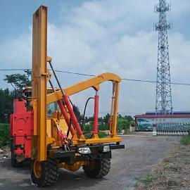公路护栏拔桩钻孔机 高速打桩机
