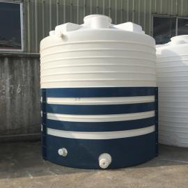 华社10吨混泥土外加剂储罐硫酸储罐防晒滚塑水箱 滚塑一次成型10T