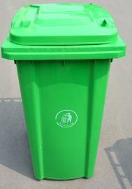 加厚挂车塑料垃圾桶-240升塑料垃圾桶-塑料环卫垃圾桶生产厂