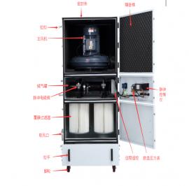 电子脉冲反吹工业集尘机 超强吸力电子脉冲反吹工业集尘机