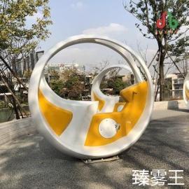 自行车互动喷泉-永诚盛达自主研发-不锈钢脚踏单车喷水