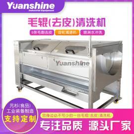 毛刷清洗机 食堂饭店果蔬清洗机 商用大型洗菜机 净菜加工设备