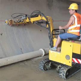 隧道专用座驾式凿毛机,弧形面凿毛台车,小车式凿毛机