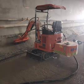 隧道二衬边墙错台凿毛机, 防水处理凿毛,座驾式隧道凿毛机