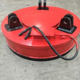 澳尔新废品站用高频强磁电磁吸盘 废钢起重圆盘磁铁φ150