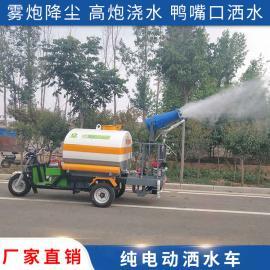 喷雾洒水车 电动三轮喷洒车 城市抑尘水罐车