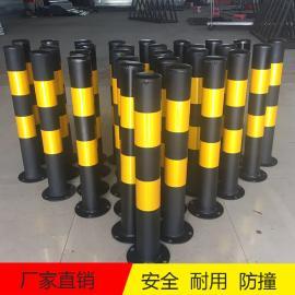 交通道路安全警示柱 人行道临边路桩贴黄黑色反光膜