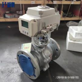湖泉(HQ)电动不锈钢法兰式球阀Q941F-16P