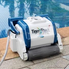 享沃虎鲨泳池吸污机 增强型全自动水下吸尘器水池清洗机