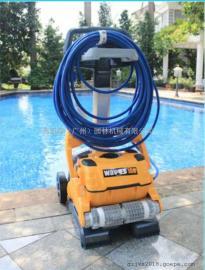 海豚WAVE 100水池清洗机 游泳池吸污机 全自动水下吸尘器