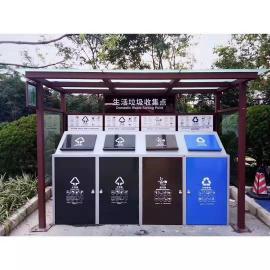 垃圾分类栏-生活垃圾指导分类栏-镀锌板垃圾分类栏生产定制