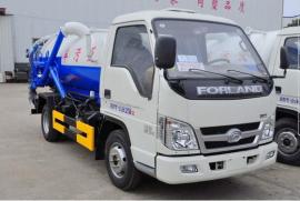 福田时代小型吸污车1.5方吸污车蓝牌图片配置