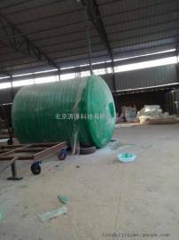 10立方米玻璃钢化粪池10吨玻璃钢机械缠绕隔油池