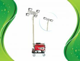 带发电机移动照明车便携式升降抢修应急灯