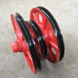 澳尔新起重机钢丝绳滑轮 矿井提升滑轮组 10T滑轮组