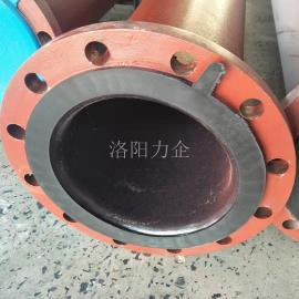 力企钢衬胶耐磨管道 盐水输送管道DN80