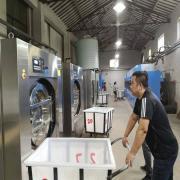 洗衣厂用全自动变频洗脱机和烫平机