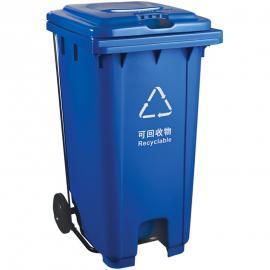 物业塑料垃圾桶货源 社区塑料挂车桶成品