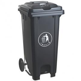 美食街塑料垃圾桶120L240升脚踩环卫挂车桶