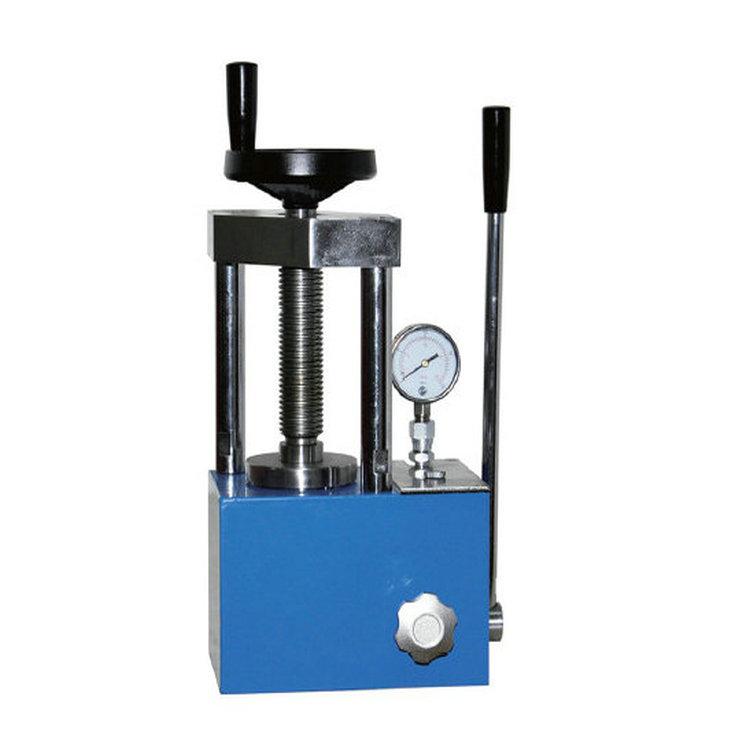 实验室24吨手动粉末压片机体积小操作省力