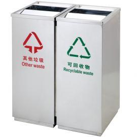 不锈钢垃圾桶生产家-不锈钢摇盖果壳箱-不锈钢果皮箱