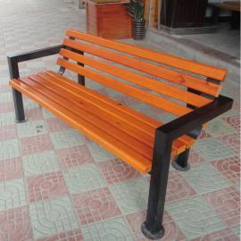 绿华景区公园椅经销商 户外铸铁防腐木公园长椅制造工厂lh-yz