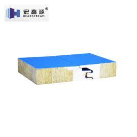岩棉彩钢聚氨酯夹芯板规格 板型可定制满足个性化需求 50*1120 宏鑫源