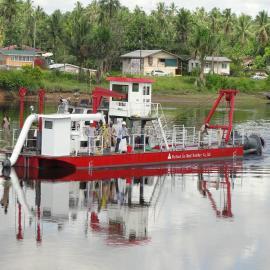 金盟 液压系统的绞吸式抽沙船工作原理 10寸