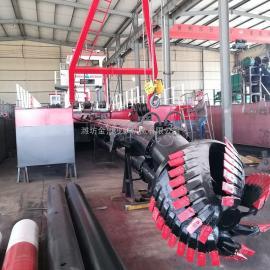 金盟大中小xing挖泥船绞吸式挖泥机设备工changding做6