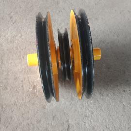 澳尔新双梁吊钩起升滑轮组 钢丝绳卷扬机导向滑轮16吨
