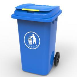 景区旅游塑料垃圾桶120L240升脚踩环卫挂车桶