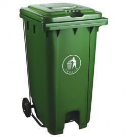 绿华lvhua小区物业脚踩翻盖式垃圾箱制造厂商 小区楼下垃圾收集桶定制lh-01